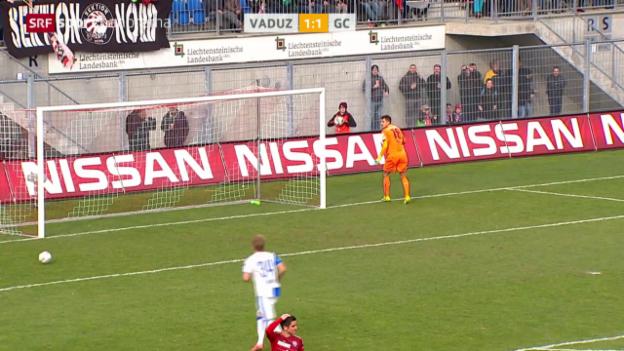 Video «Vaduz und GC trennen sich unentschieden» abspielen