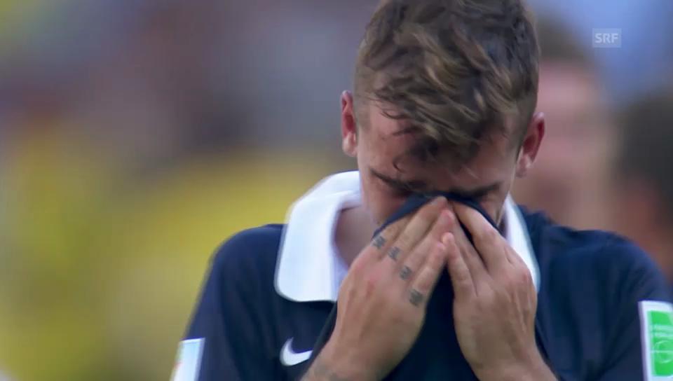 Tränen der Trauer: Antoine Griezmann