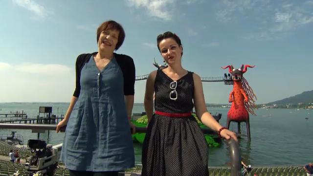 Die Live-Kommentatorinnen Gabriela Kaegi und Frölein Da Capo