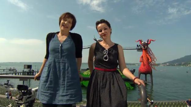 Video «Die Live-Kommentatorinnen Gabriela Kaegi und Frölein Da Capo» abspielen
