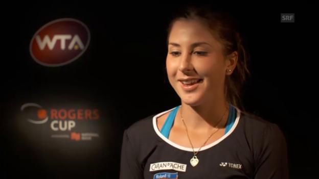 Video «Tennis: Bencic nach Toronto (deutsch)» abspielen