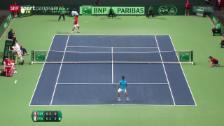 Video «Tennis: Davis Cup, Federer - Fognini» abspielen