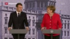 Video «Macrons Reformpläne stossen in Deutschland auf Skepsis» abspielen