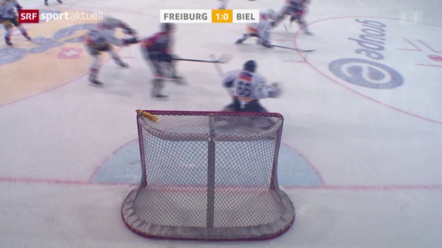 Video «Eishockey: NLA, Freiburg - Biel» abspielen