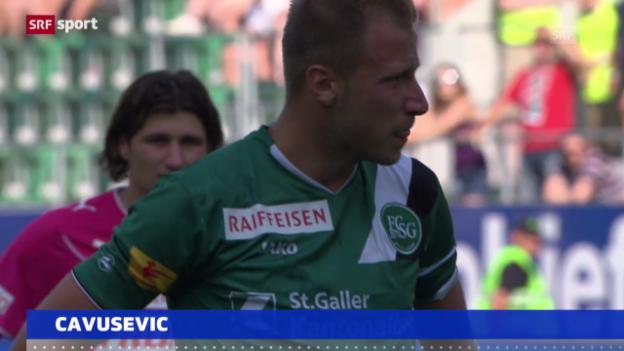 Video «Fussball: Cavusevic verletzt» abspielen