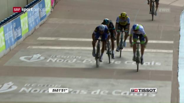 Video «Paris - Roubaix: Hayman stiehlt Boonen die Show» abspielen