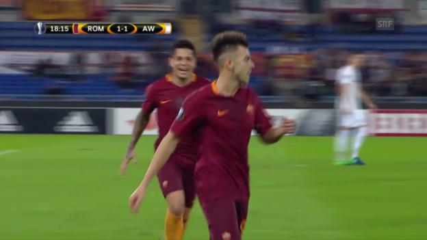 Video «Kein Sieger bei Roma - Austria» abspielen