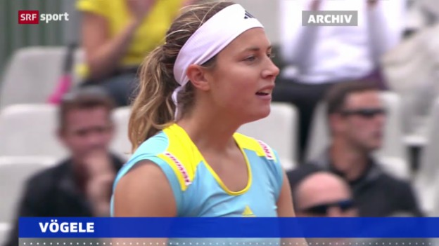Video «Tennis: Vögele schlägt Barthel («sportaktuell»)» abspielen