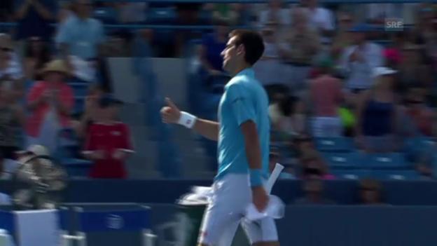Video «Tennis: Djokovic unterliegt Robredo» abspielen