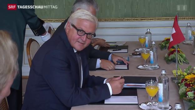 Video «Steinmeier auf Besuch in Bern» abspielen