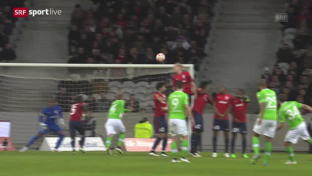 Fussball: Europa League, Freistoss Rodriguez gegen Lille