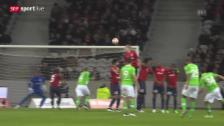 Video «Fussball: Europa League, Freistoss Rodriguez gegen Lille» abspielen