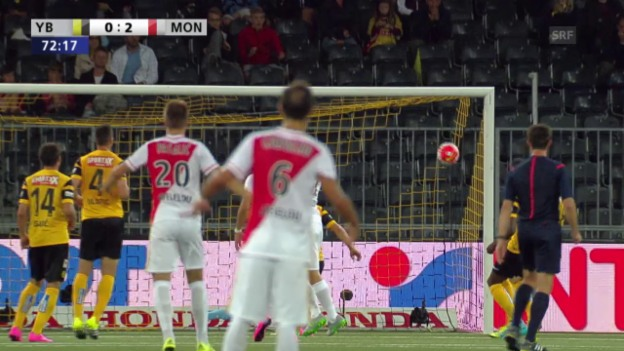 Video «Fussball: Champions-League-Qualifikation, Hinspiel, YB - Monaco, 1:3 für Monaco» abspielen