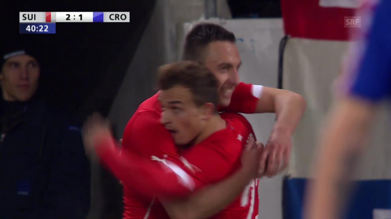 Fussball: Test Schweiz-Kroatien, Josip Drmics Tore («sportlive», 5.3.14)