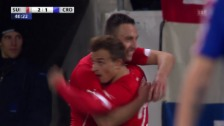 Video «Fussball: Test Schweiz-Kroatien, Josip Drmics Tore («sportlive», 5.3.14)» abspielen