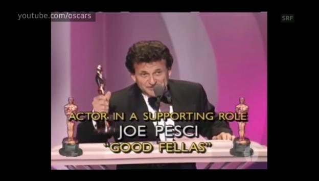 Video «Joe Pescis Dankesrede bei den Oscars 1991» abspielen
