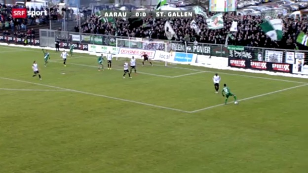 Video «Cup-Achtelfinal Aarau - St. Gallen» abspielen