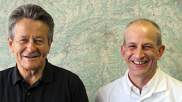 Hans-Ulrich Iselin, Ärzteverband, und Fabian Vaucher, Apothekerverband, im Streitgespräch