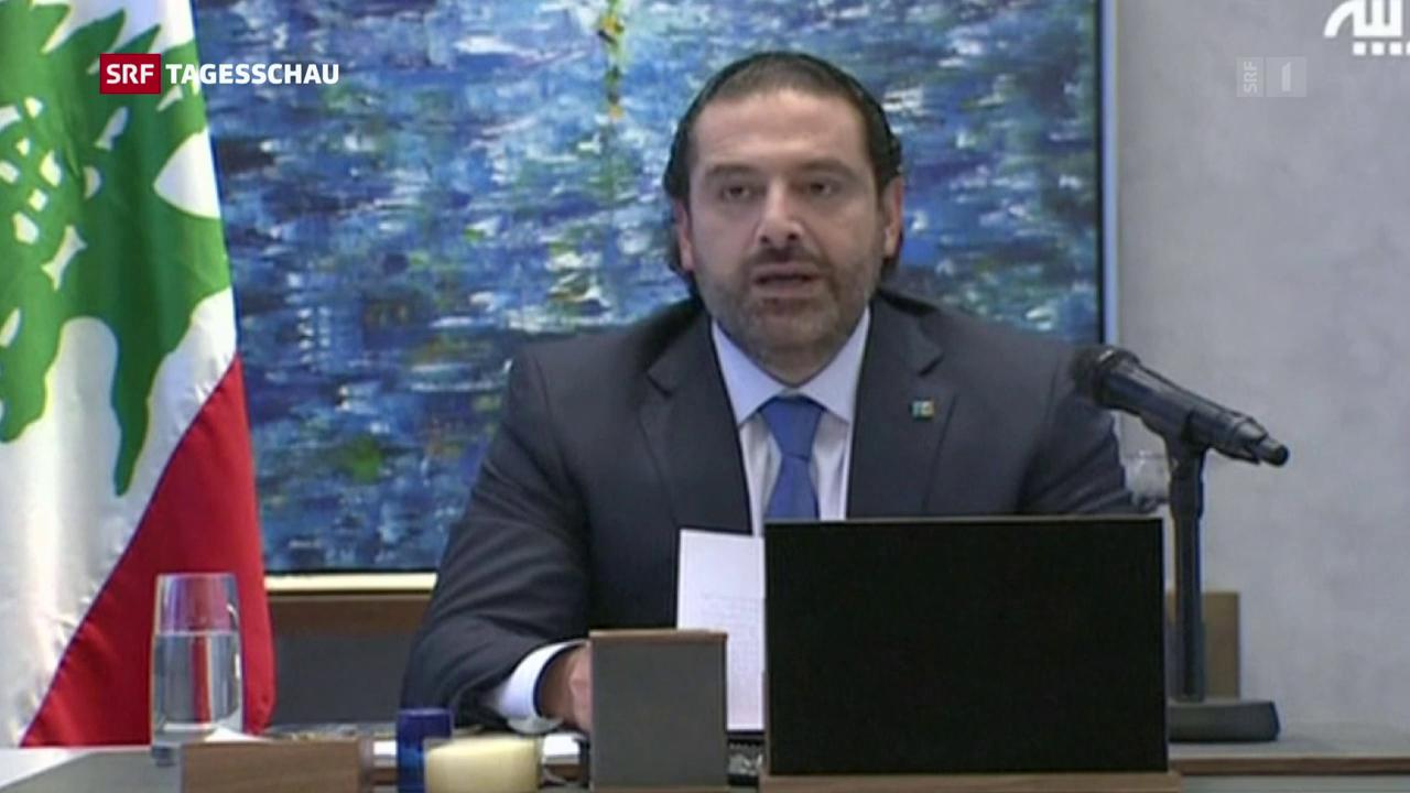 Libanesischer Ministerpräsident Hariri tritt zurück