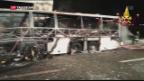 Video «Tödliches Busunglück nahe Verona» abspielen