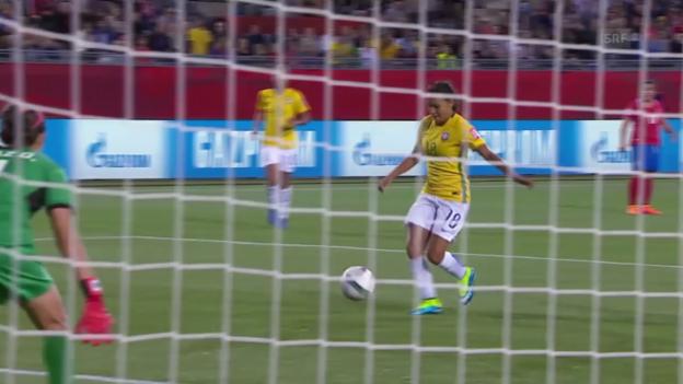 Video «Fussball: Frauen-WM, Zusammenfasssung Brasilien - Costa Rica» abspielen