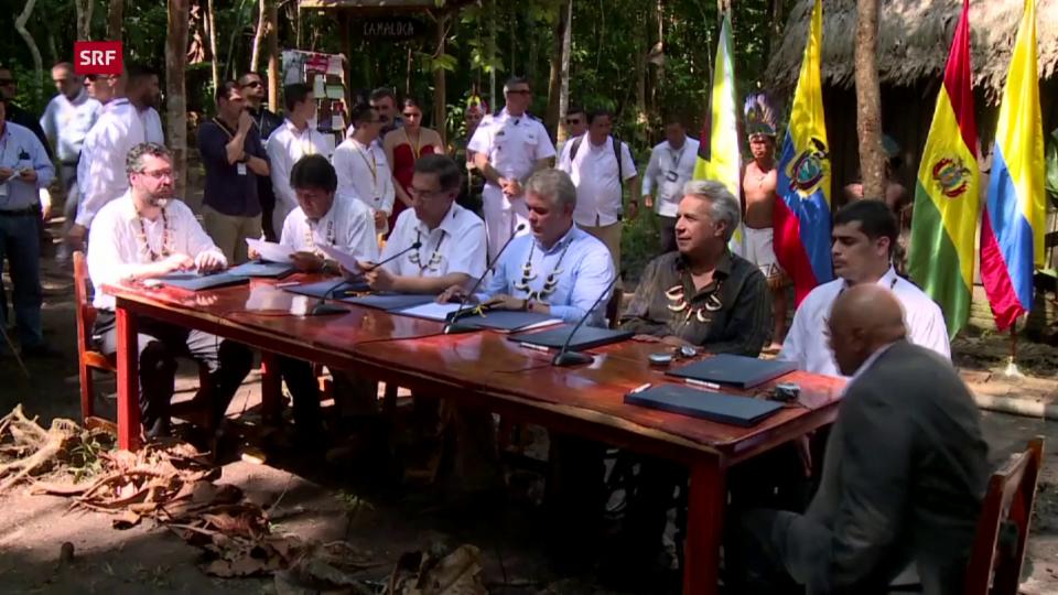 Aus dem Archiv: Amazonas-Länder beschliessen Massnahmen