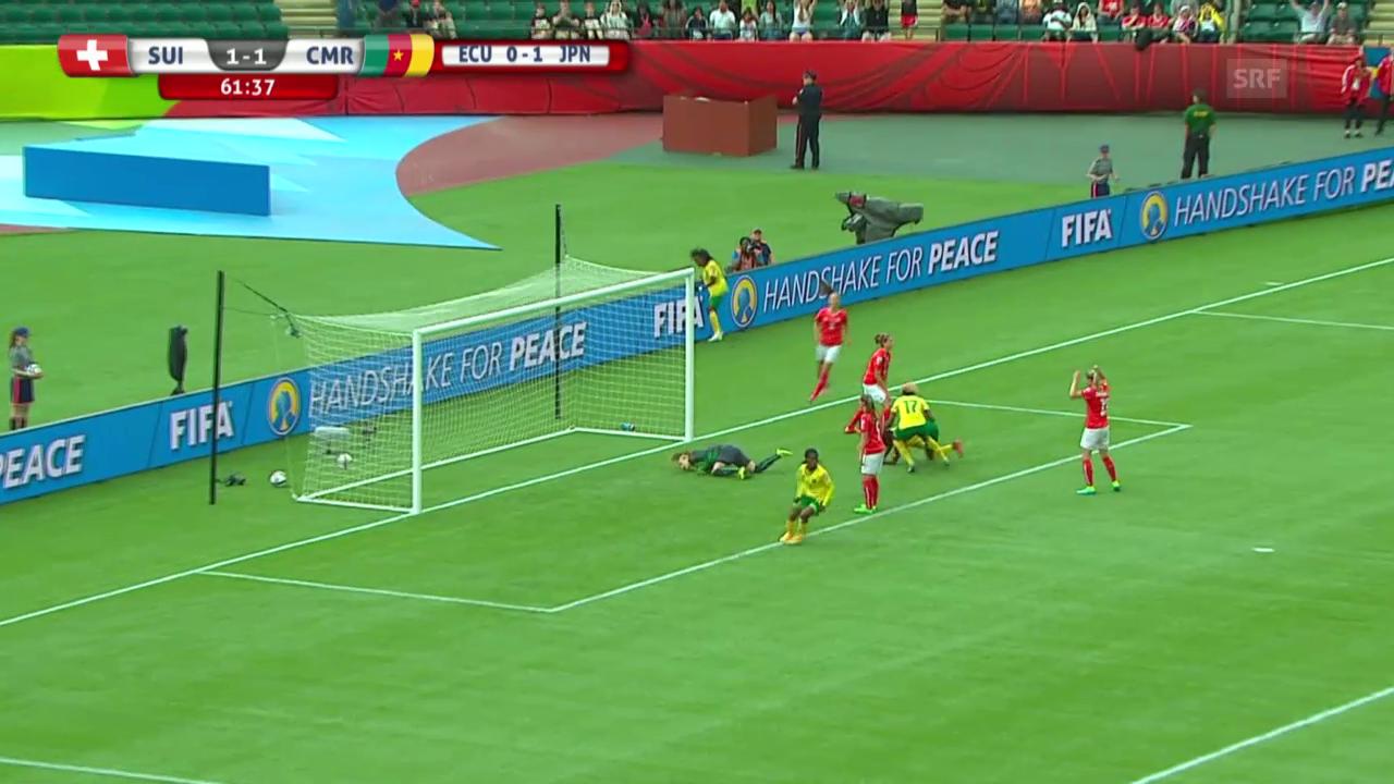 Fussball, Frauen-WM, Schweiz-Kamerun, 2:1 Kamerun