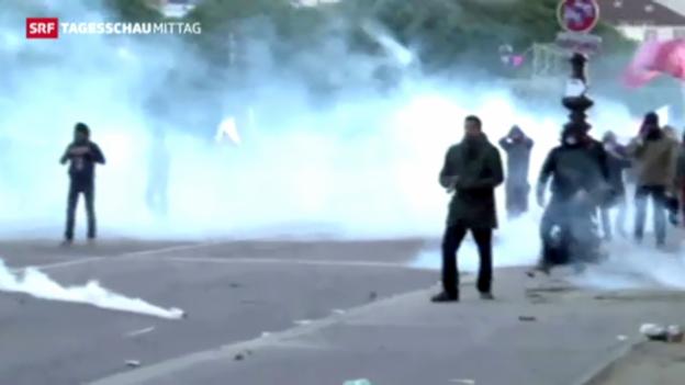 Video «Massenproteste und Krawalle in Paris» abspielen