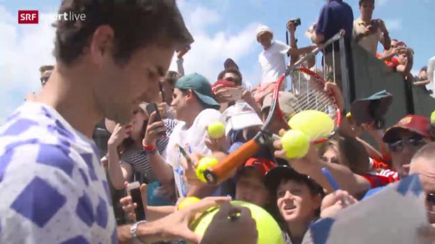 Video «Roger Federer vor seinem Comeback in Miami» abspielen