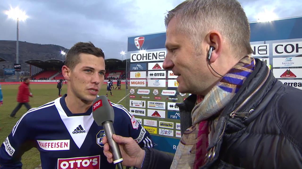 Fussball: SL, Sion - Luzern, Interview Remo Freuler