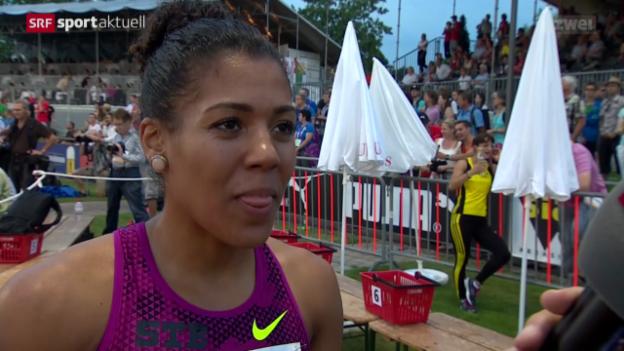 Video «LA: Schweizer Meisterschaften, Final 100 m Frauen» abspielen