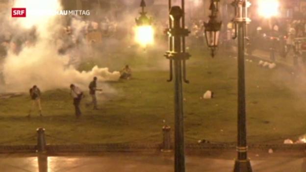 Video «Blutige Krawalle in Ägypten» abspielen