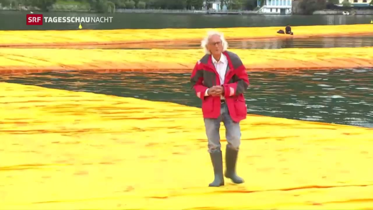 Christos «Floating Piers» auf dem Iseo-See