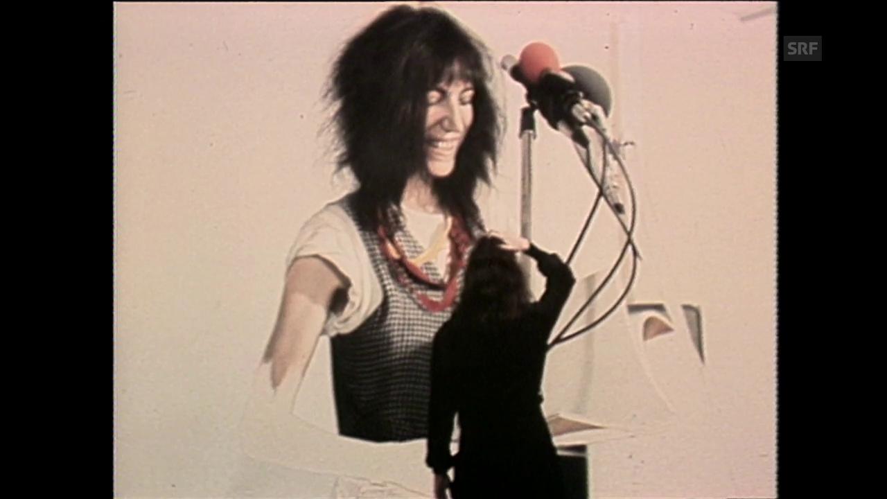 Patti Smith im Atelier bei Franz Gertsch (19.9.1979)