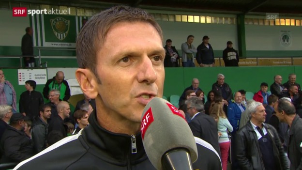 Video «Fussball: Cup, Interview YB-Coach Gämperle» abspielen