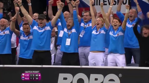 Video «Tennis: Fed Cup 2015, Final, Doppel Tschechien - Russland» abspielen