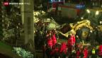 Video «Viele Tote nach Dacheinsturz in Lettland» abspielen