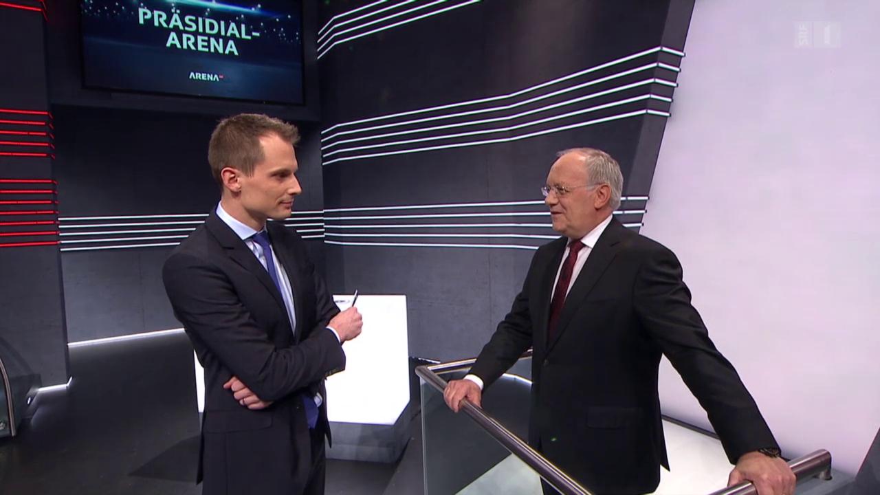 «Präsidial-Arena»: Bundespräsident verbreitet Zuversicht
