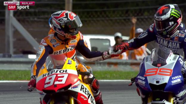 Video «Spanier in der MotoGP überlegen («sportpanorama»)» abspielen