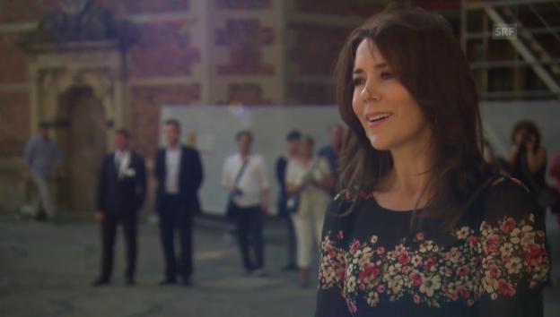Video «Kronprinzessin Mary über die Ausstellung und das Shooting mit Marco Grob» abspielen
