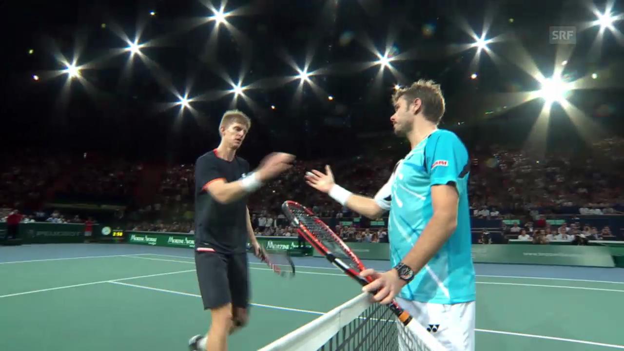 Tennis: Paris-Bercy, Wawrinka - Anderson