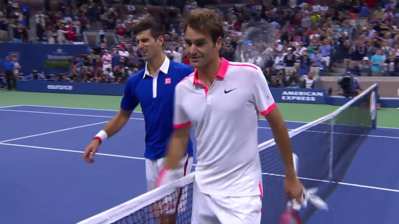 Tennis: US Open Final 2015, Federer-Djokovic, Match-Highlights