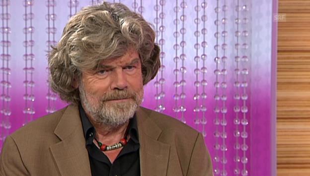 Video «Reinhold Messner über das Klettern mit seinem Sohn» abspielen