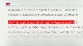 Video «Putin will keine Vergeltungsaktionen gegen die USA» abspielen