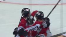 Video «Eishockey: Spengler Cup 2015, Jekaterinburg-Team Canada, 1:2 Conacher» abspielen