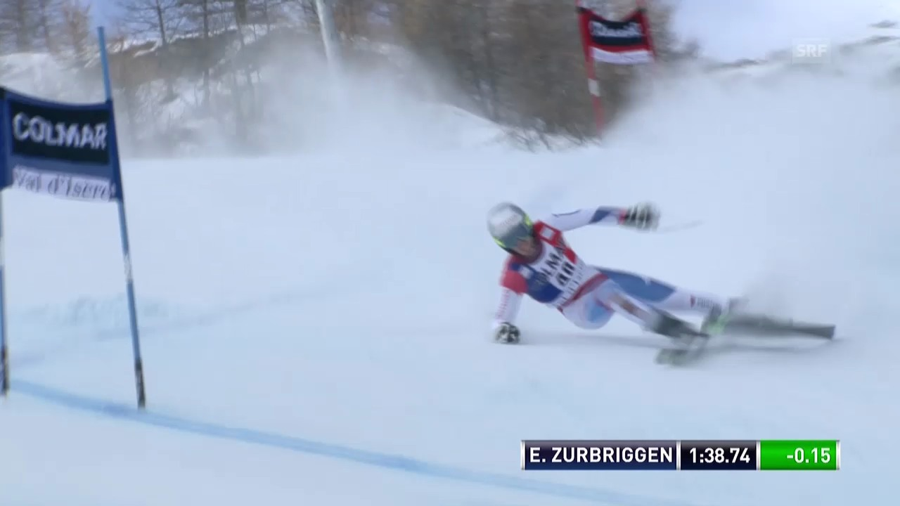 Ski alpin: Riesenslalom Männer Val d'Isère, 2. Lauf Elia Zurbriggen («sportlive», 14.12.2013)