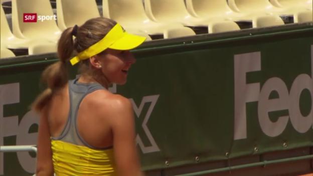 Video «Belinda Bencic in Paris im Final der Juniorinnen («sportaktuell»)» abspielen