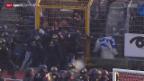 Video «Fussball: Super League, Ausschreitungen nach Lugano - GC» abspielen
