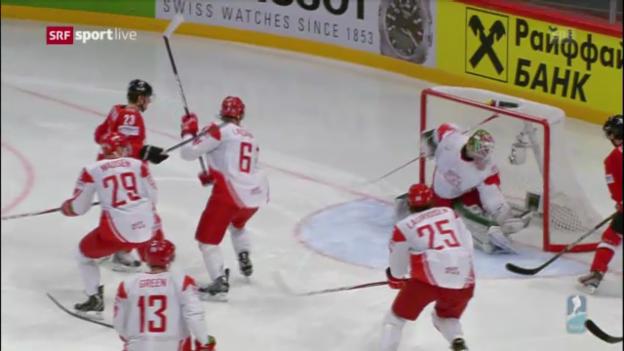 Video «Eishockey-WM: Highlights Schweiz - Dänemark («sportlive»)» abspielen