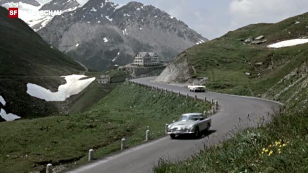 Video «James Bond «Goldfinger» an der Furka» abspielen